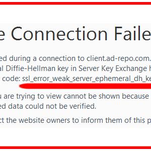 ssl_error_weak_server_ephemeral_dh_key error fixed